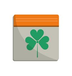 St patricks day calendar clover icon vector