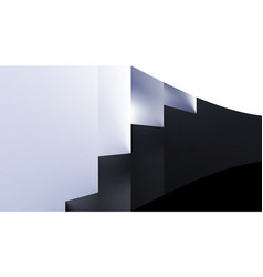 Stair abstract minimalistic black and white vector