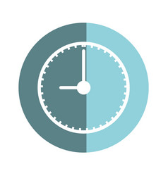 Sticker clock to know the time of day vector