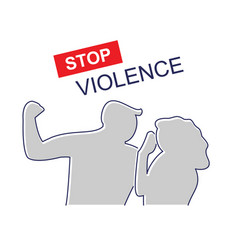 Stop domestic violence family abuse vector
