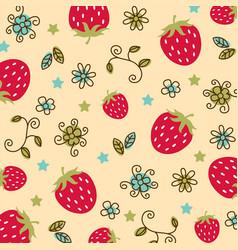 Strawberry pattern 01 vector