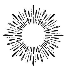 sunburst doodle line art hand drawn water splash vector image