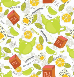 tea pattern vector image