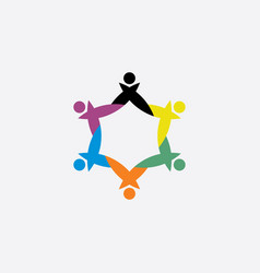 teamwork people group symbol element logo sign vector image