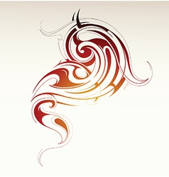 Tribal smoke vector image