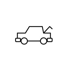 Trunk opened car icon vector