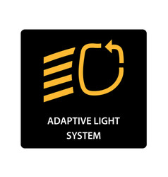 warning dashboard car icon adaptive light system vector image