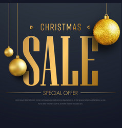 web banner template for christmas sale vector image