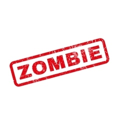 Zombie Rubber Stamp vector image