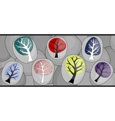 abstract background with trees vector image vector image