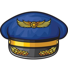 Airline Pilots Hat vector image