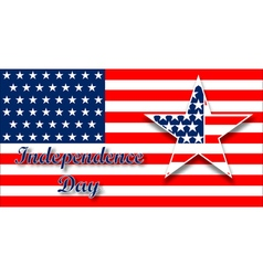 American flag design for celebration an vector image vector image