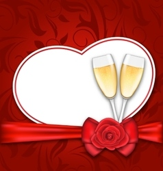 Celebration Card Heart Shaped for Happy Valentines vector image