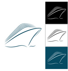 set of cruise liner logos vector image vector image