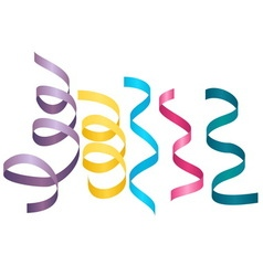 Set of party streamers Carnival serpentine vector image