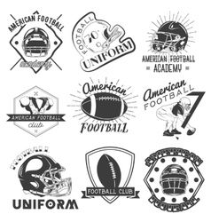set of rugby and american football labels vector image vector image