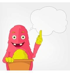 Funny Monster Presentation vector image