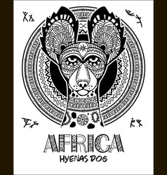 image dog in the african style african vector image vector image