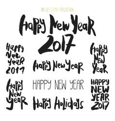 Set of 8 decorative handdrawn lettering vector image