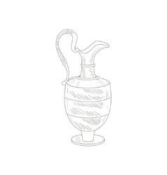 Vintage Wine Jug Hand Drawn Realistic Sketch vector image vector image