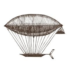 Zeppelin Hand Draw Sketch vector image