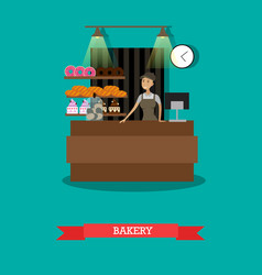 bakery store concept in flat vector image vector image