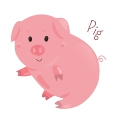 Pig Sticker for kids Child fun icon vector image
