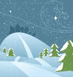 snowy hills vector image vector image