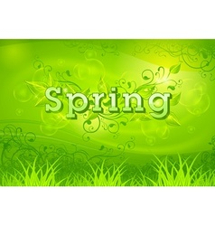 Spring background green vector image vector image