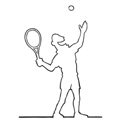 tennis player serving the ball vector image vector image