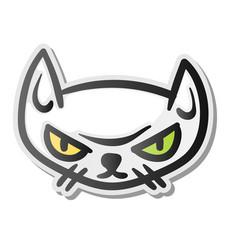 angry grumpy cat emoji face vector image