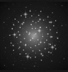 cosmos-snow-stars vector image