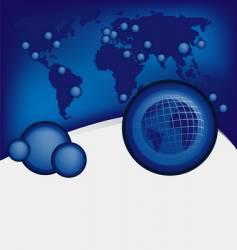 global design background vector image vector image