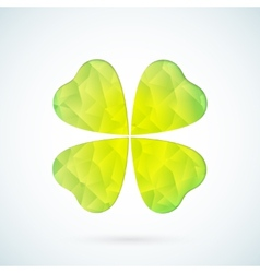 Green geometric clover background vector image vector image