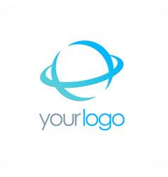round globe logo vector image