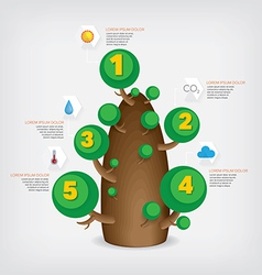 Tree infographic vector image vector image