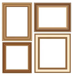 wooden frames isolated on white vector image