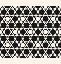 Abstract geometric seamless hexagons pattern vector