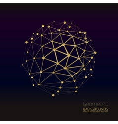 Abstract gold geometric lattice vector
