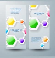 abstract infographic business vertical banners vector image