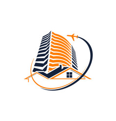 accommodation business trip vector image