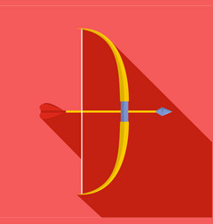 Archery ammunition icon flat style vector