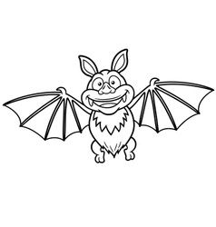 Bat outline vector