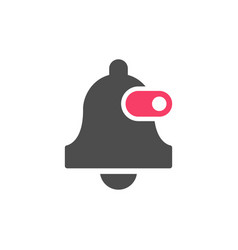 Bell turn off glyph icon vector