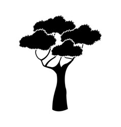 Black aafrican tree silhouette natural forest vector