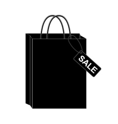 Black shopping bags eps10 vector image