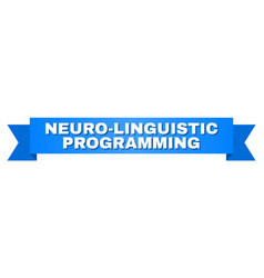 Blue ribbon with neuro-linguistic programming vector