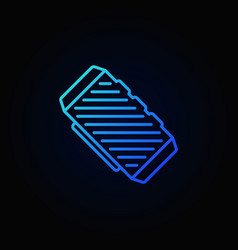 Bluetooth speaker blue outline concept icon vector