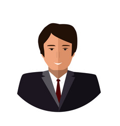 boss icon flat colorful vector image