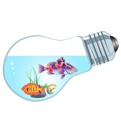Bulb aquarium vector